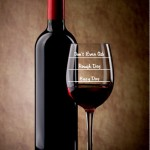Etched Glass and wine