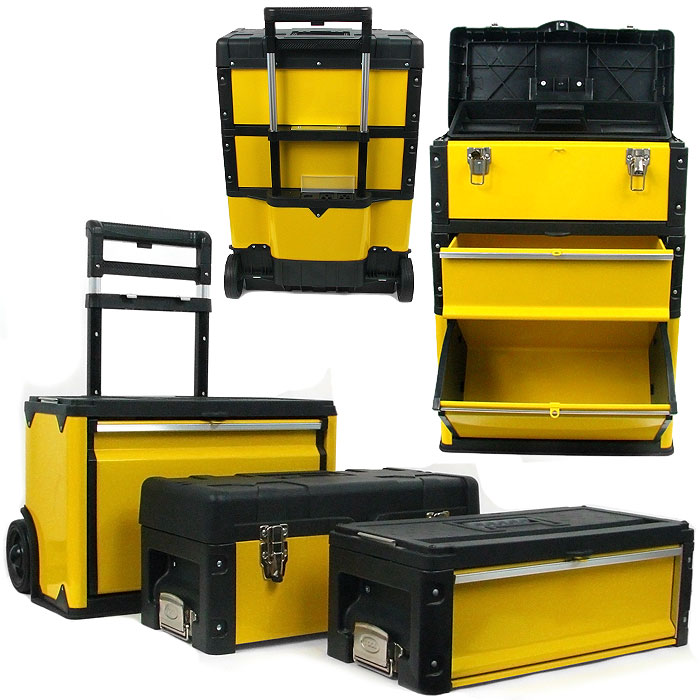 Superbe Oversized Portable Tool Chest U2013 Three Tool Boxes In One